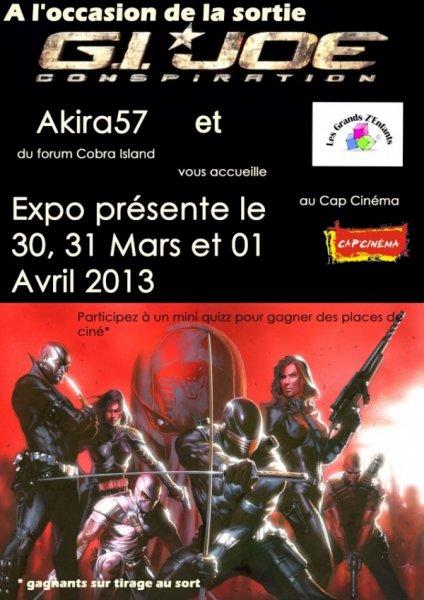 Expo gi joe au cin ma de p rigueux 24 30 31 mars et 1er avril 2013 - Porte avion gi joe a vendre ...