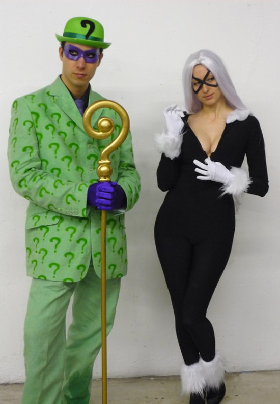 cosplay super heros riddler black cat