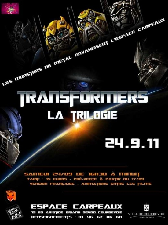 Évènement Transformers en France  Le 24 Septembre 2011 à Courbevoie