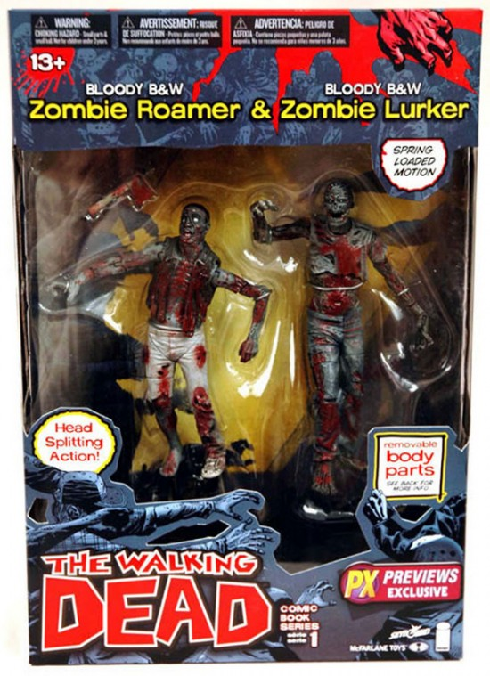 the walking dead zombie double packs