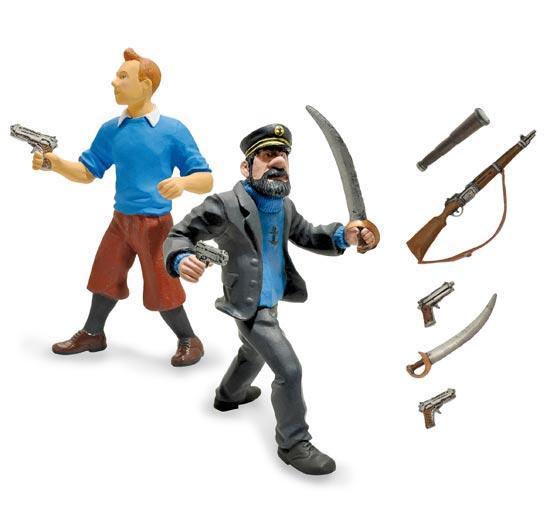 les aventures de tintin 2011 plastoy figurine