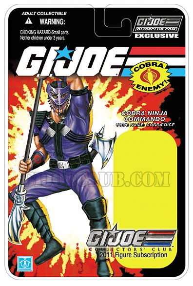 hasbro gi joe collectors club 2012 card carte cobra dice