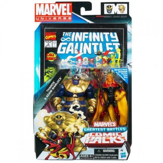 Marvel universe Hasbro pack Thanos Warlock blister