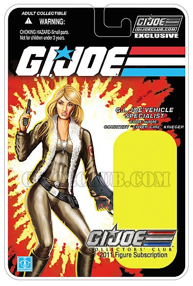 gijoe cover girl hasbro carte card