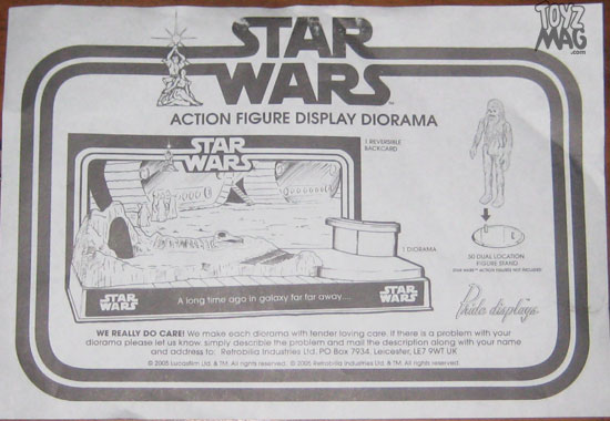 ACTION FIGURE DISPLAY DIORAMA pride Display STAR WARS