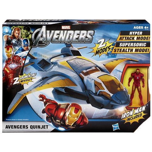 the avengers the movie hasbro quinjet iron man