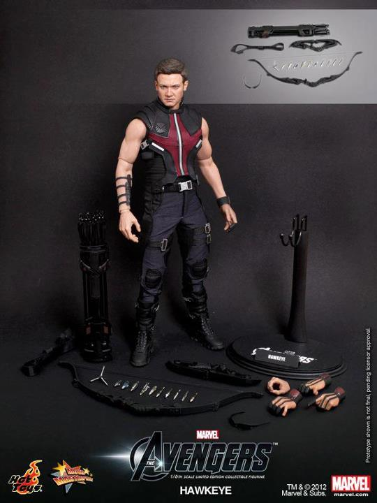 The Avengers Hawkeye Limited Edition Collectible Figurine HOT TOYS