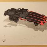 Les concept Arts de l'Hoverboard de Retour vers le Futur 2