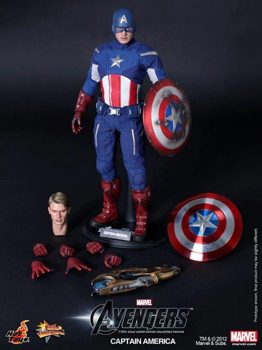 The Avengers Captain America Limited Edition Collectible Figurine HOT TOYS