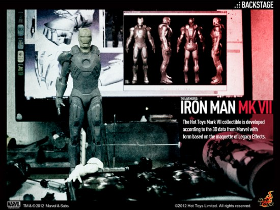 Hot Toys  The Avengers  IRON MAN Mark VII Backstage
