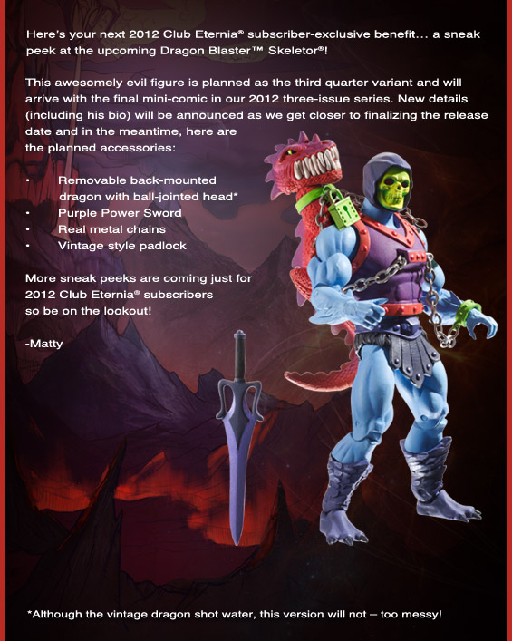 Dragon Blast Skeletor MOTUC MATTEL