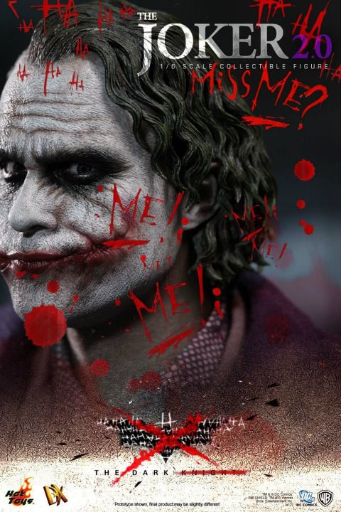 The Dark Knight - Unveiling The Joker 2.0's Real Face hot toys