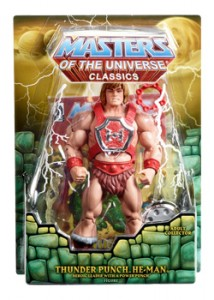 Thunder punch He-man matty mattel motuc 2012