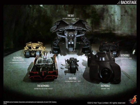 HOT TOYS vehicules BATMAN