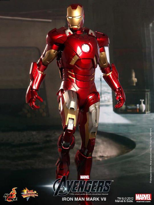 The avengers Hot Toys iron man mark VII