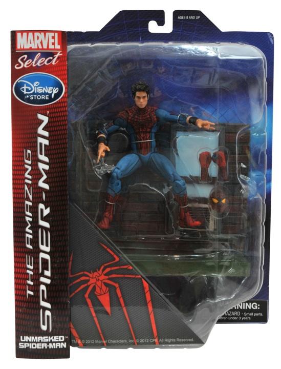 the Amazing Spider-man unmasked sans masque disney exclue marvel select