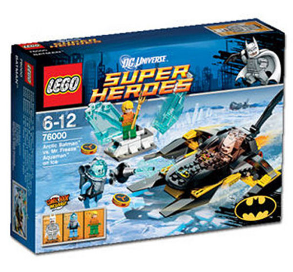 Lego super-heroes Batman Artic Aquaman Mr Freeze