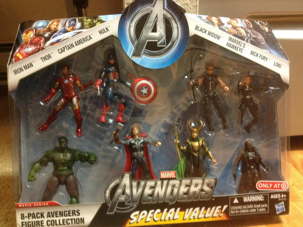 The Avengers 8pack Hasbro traget