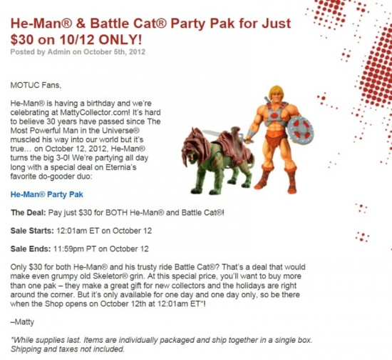offre motuc 30$ heman battle cat matty