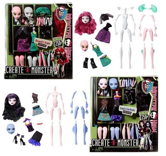 Monster High Creat-A-Monster Coffret Terreur 2013