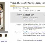 Un Chewbacca Palitoy s'arrache à plus de 7000 euros !!!!