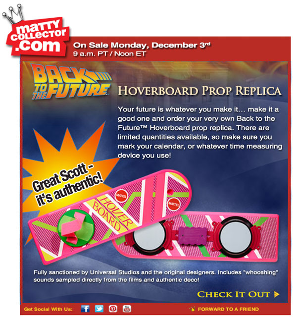 Back to the futre 2 hoverboard
