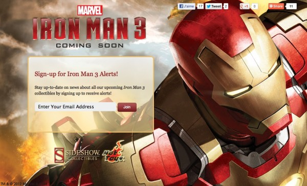 Iron Man sideshow hot toys