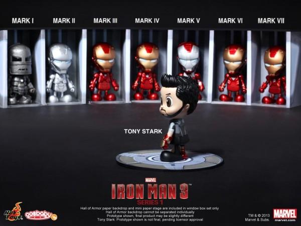 hot toys iron man 3 cosbabies series 1 - 1