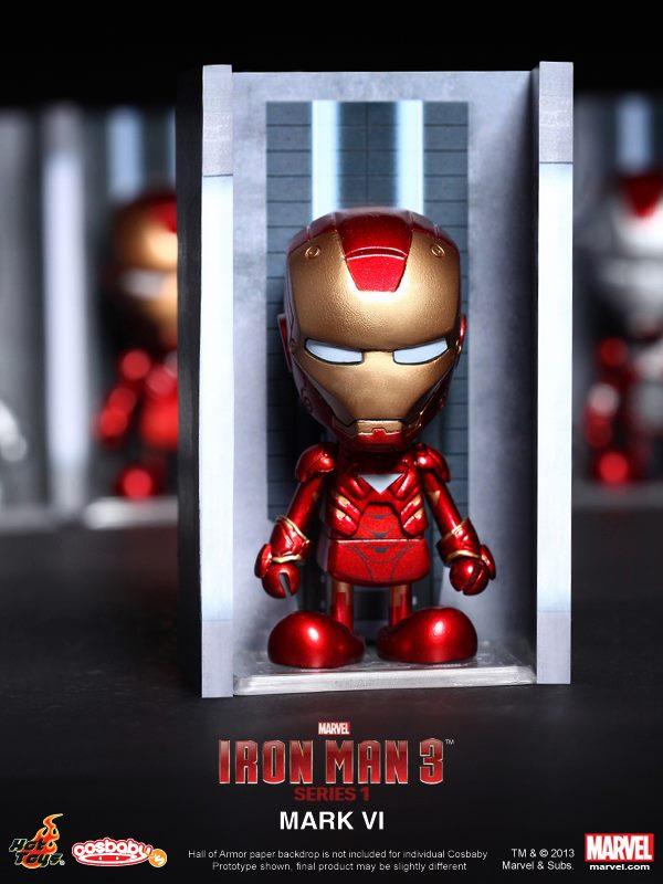 hot toys iron man 3 cosbabies series 1 - 8