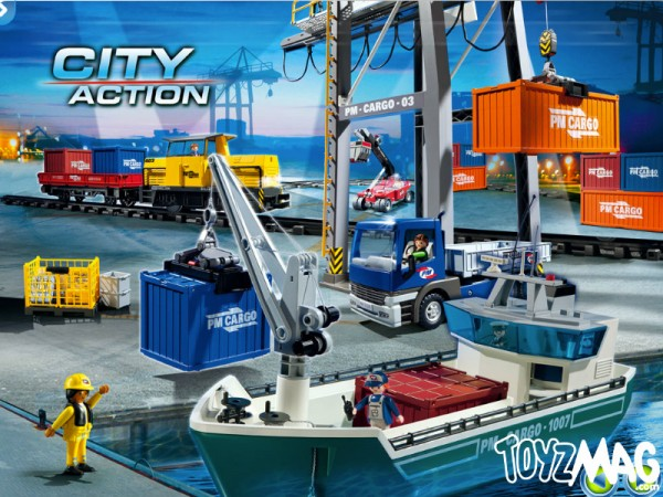 playmo transport marchandises avion city action