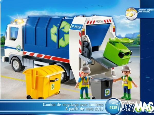 playmo véhicule série limitée 2013 camion de recyclage
