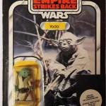Yoda vintage sur carte hybride Kenner Canada / Clipper Bénélux