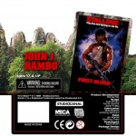 Rambo : le packaging de la figurine NECA