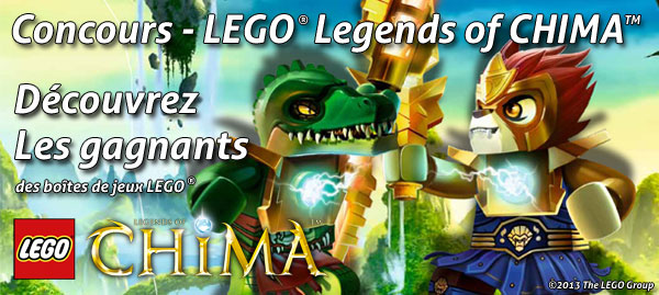 gagnants concours Legends Of Chima