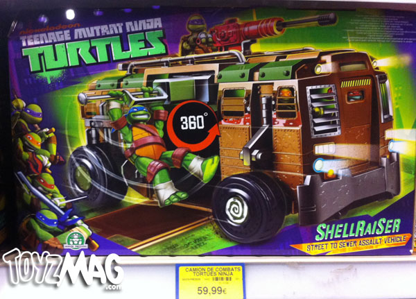 le shellraiser le camion des tortues ninja. Black Bedroom Furniture Sets. Home Design Ideas