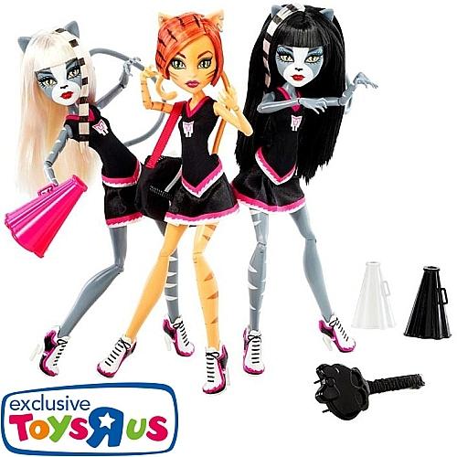 Pack de 3 poupées Monster High : Purrsephone, Toralei et Meowlody