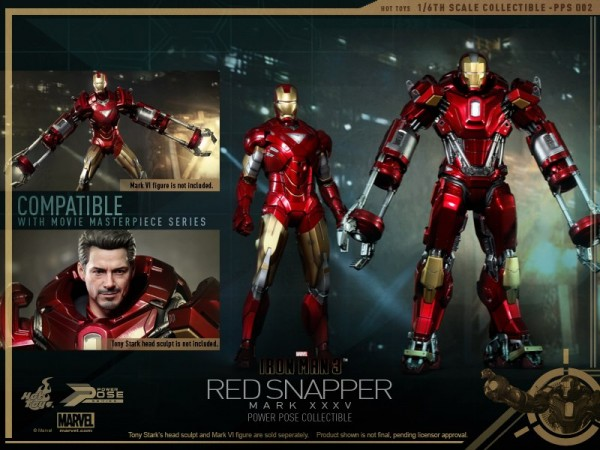 hot toys iron man 3 red snapper mk35  14