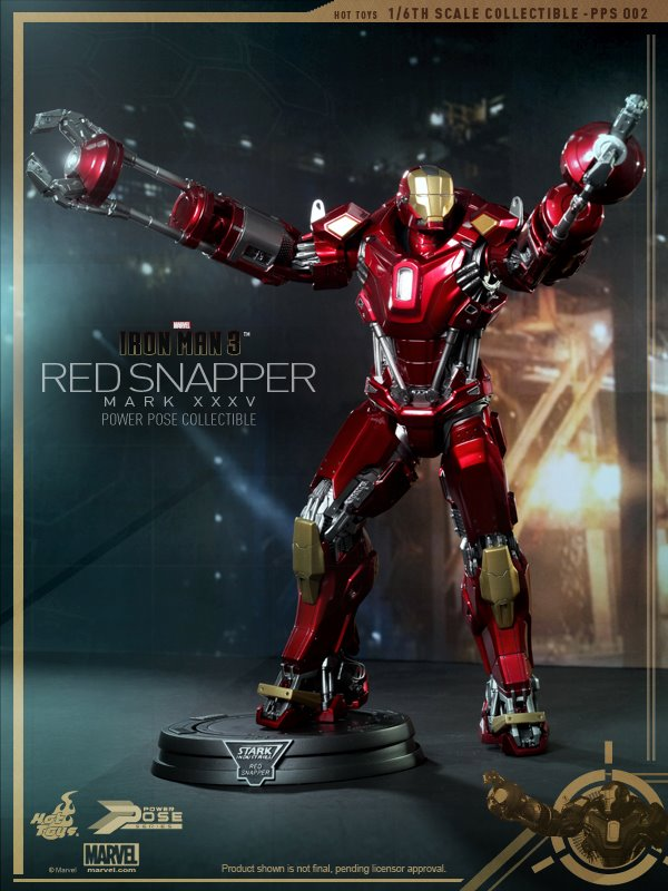 hot toys iron man 3 red snapper mk35  2