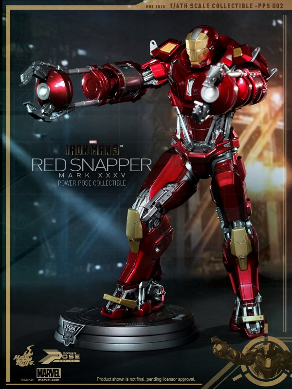 hot toys iron man 3 red snapper mk35  3