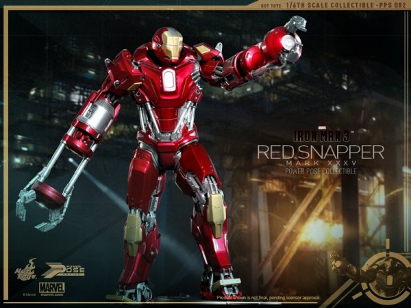 hot toys iron man 3 red snapper mk35  7