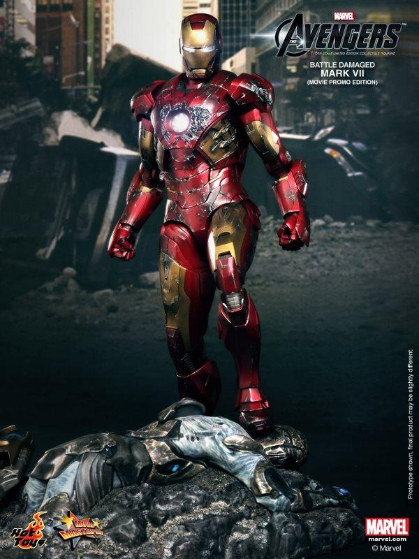 hot toys iron man mark VII damaged 1