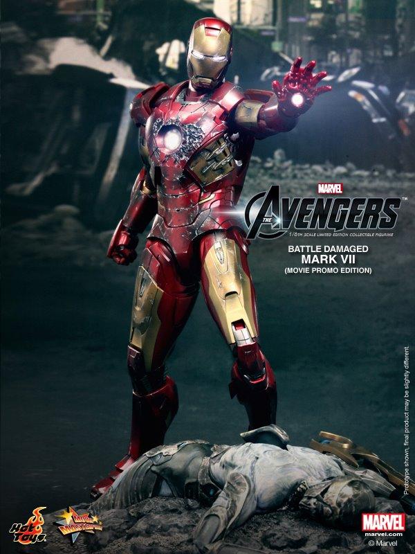 hot toys iron man mark VII damaged 3