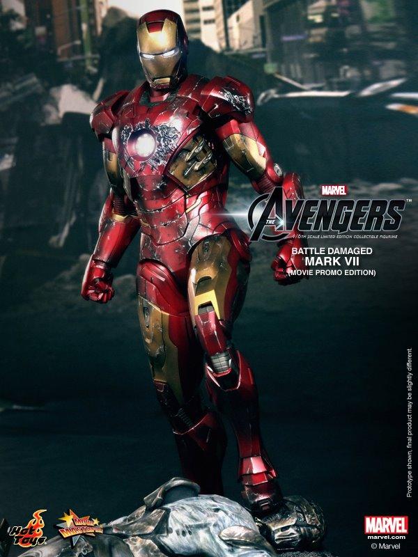 hot toys iron man mark VII damaged 4