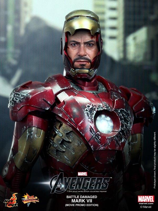 hot toys iron man mark VII damaged 8