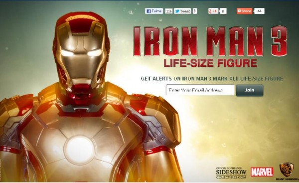 iron man 3 sideshow taille réelle