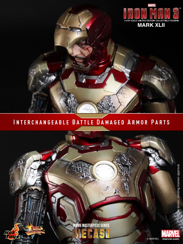 iron man hot toys mk xlii 123