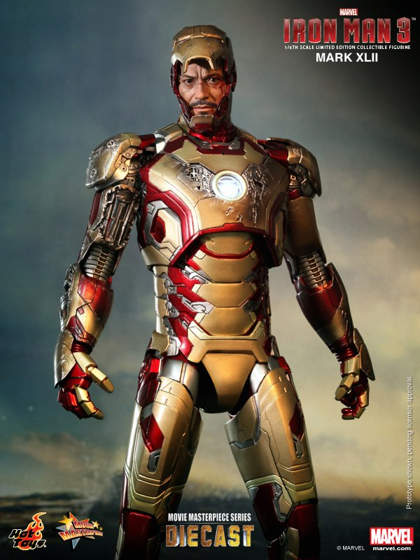 iron man hot toys mk xlii 8