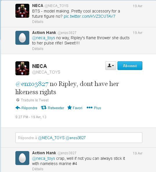 neca ripley aliens conversation twitter