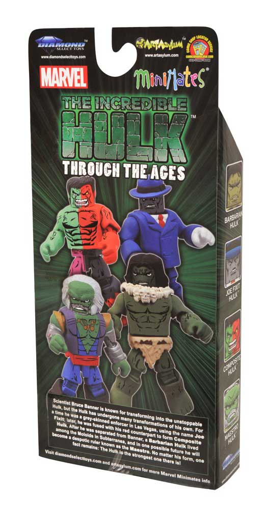 Hulk Through the Ages Marvel Minimates Diamond Select Toys