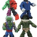 Hulk fracasse les Minimates de DST
